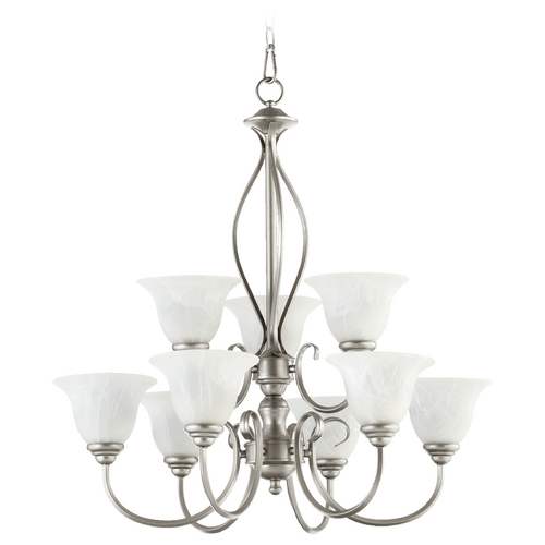 Quorum Lighting Quorum Lighting Spencer Classic Nickel Chandelier 6010-9-64