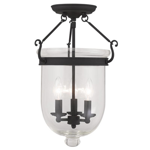 Livex Lighting Livex Lighting Jefferson Black Semi-Flushmount Light 5062-04
