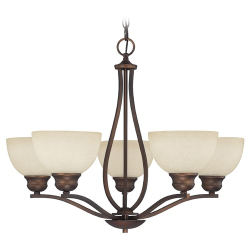 Capital Lighting Capital Lighting Stanton Burnished Bronze Chandelier 4035BB-207