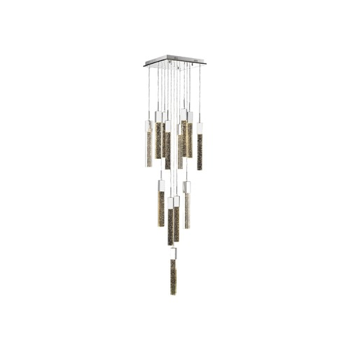 Avenue Lighting Avenue Lighting Polished Chrome LED Multi-Light Pendant with Cylindrical Shade HF1905-13-GL-CH