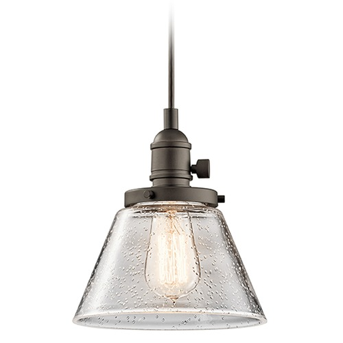 Kichler Lighting Kichler Lighting Avery Mini-Pendant Light with Coolie Shade 43851OZ
