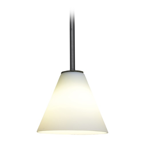 Access Lighting Access Lighting Martini Oil Rubbed Bronze LED Mini-Pendant Light with Conical Shade 28004-4R-ORB/WHT
