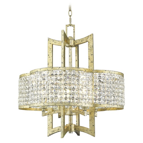 Livex Lighting Livex Lighting Grammercy Hand Applied Winter Gold Chandelier 50575-28