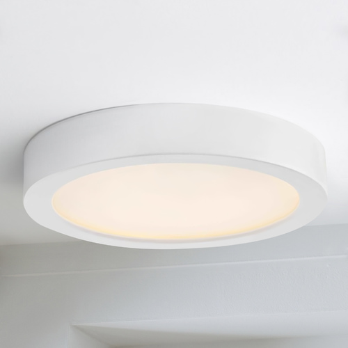 Design Classics Lighting Flat LED Light Surface Mount 6-Inch Round White 2700K 1077LM 6279-WH T16