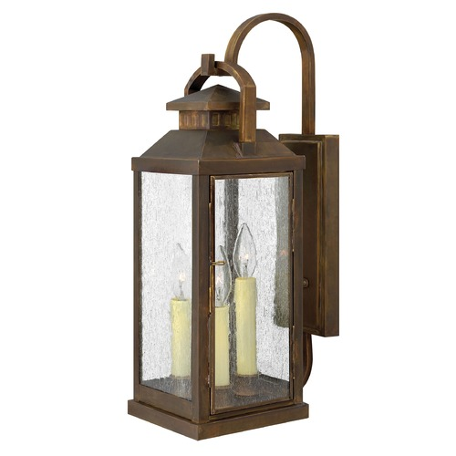 Hinkley Lighting Outdoor Wall Light with Clear Glass in Sienna Finish 1185SN