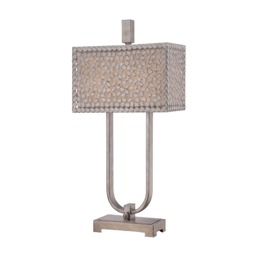 Quoizel Lighting Modern Table Lamp in Old Silver Finish CKCF6330OS