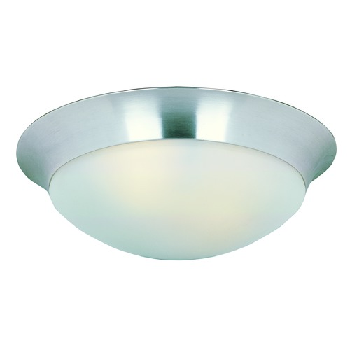 Maxim Lighting Maxim Lighting Essentials Satin Nickel Flushmount Light 5852FTSN