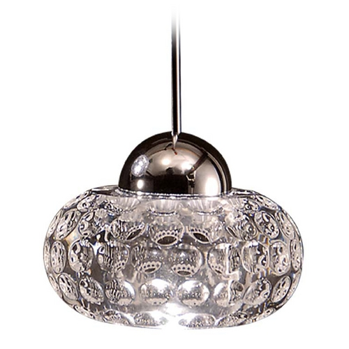 WAC Lighting Wac Lighting LED Crystal Collection Brushed Nickel LED Mini-Pendant with Bowl / Dom MP-LED334-CL/BN