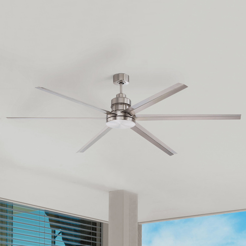 Craftmade Lighting Craftmade Lighting Mondo Brushed Polished Nickel Ceiling Fan Without Light MND72BNK6
