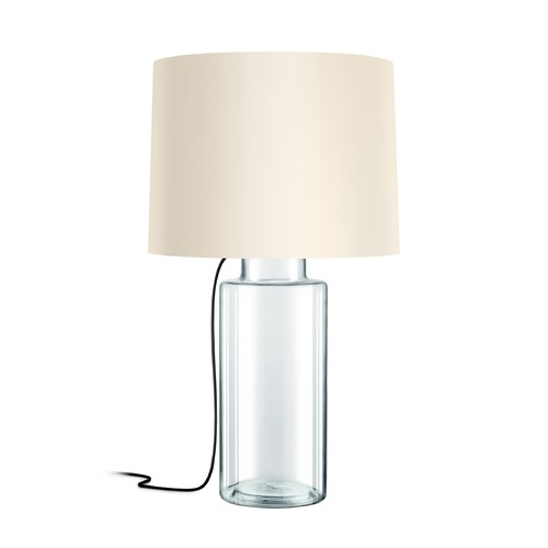 Sonneman Lighting Sonneman Vaso Clear Glass W/ Black Silk 1 Light Table Lamp with Drum Shade 4775.87K
