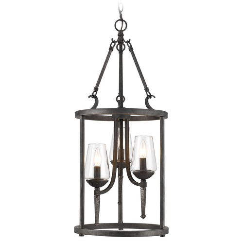 Golden Lighting Golden Lighting Marcellis Dark Natural Iron Pendant Light 1208-3P DNI