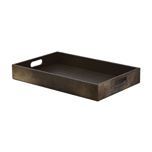 Dimond Home Chestnut Faux Pony Tray 284051