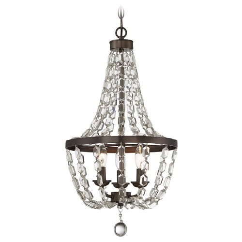 Savoy House Savoy House Lighting Mini Chandelier Oiled Burnished Bronze Pendant Light 1-8733-3-28