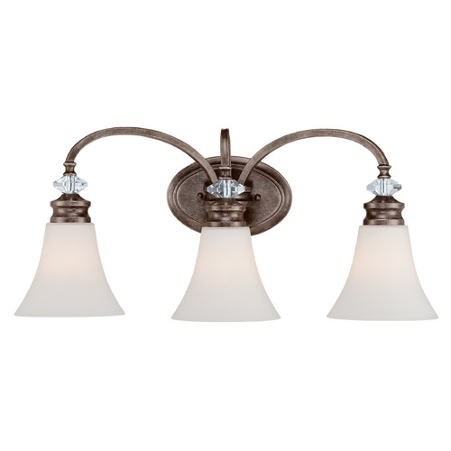 Craftmade Lighting Craftmade Lighting Boulevard Mocha Bronze/silver Accents Bathroom Light 26703-MB-WG