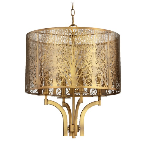 Quorum Lighting Quorum Lighting Aged Brass Pendant Light 8733-4-80