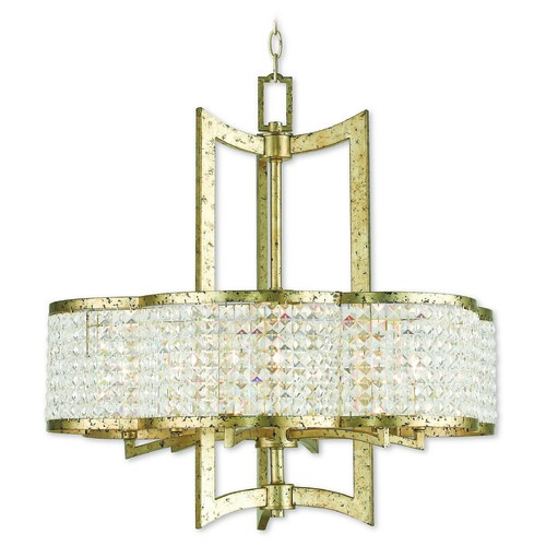 Livex Lighting Livex Lighting Grammercy Hand Applied Winter Gold Chandelier 50576-28