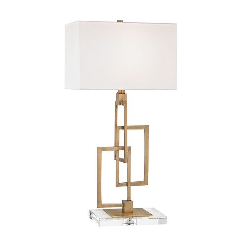 Dimond Lighting Dimond Duet Antique Brass Table Lamp with Rectangle Shade D3127