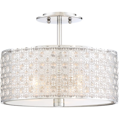 Quoizel Lighting Quoizel Lighting Platinum Collection Verity Polished Chrome Semi-Flushmount Light PCVY1714C