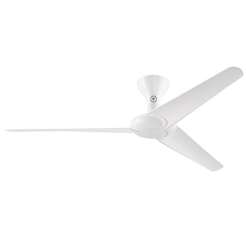 Fanimation Fans Fanimation Fans Drone Glossy White Ceiling Fan Without Light FPD6235GWH