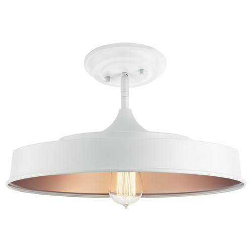 Kichler Lighting Kichler Lighting Elias White Semi-Flushmount Light 52098WH