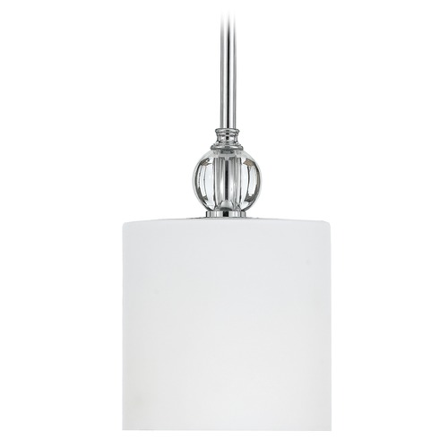 Quoizel Lighting Modern Mini-Pendant Light with White Glass DW1506C