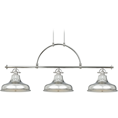 Quoizel Lighting Nautical Chandelier in Imperial Silver Finish ER353IS