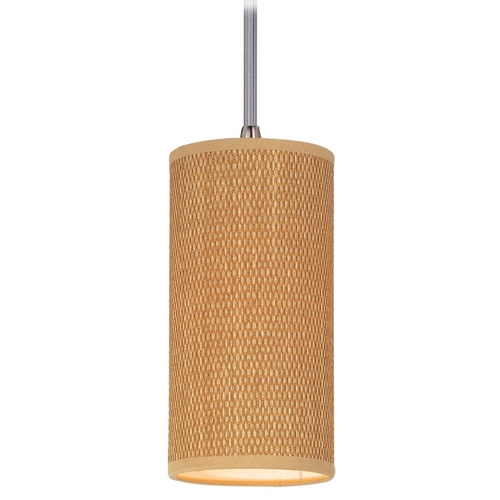 ET2 Lighting Modern Mini-Pendant Light with Brown Shade E95032-101SN