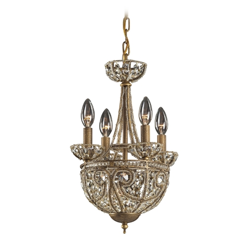 Elk Lighting Mini-Chandelier in Dark Bronze Finish 5973/4+1