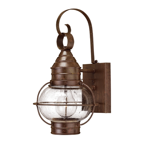 Hinkley Lighting Outdoor Wall Light with Clear Glass in Sienna Bronze Finish 2206SZ