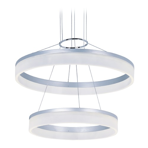 ET2 Lighting Saturn Metallic Silver LED Pendant Light E22455-11MS
