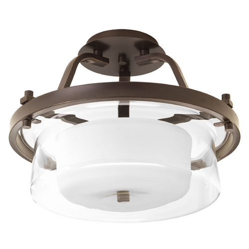 Progress Lighting Progress Lighting Indulge Antique Bronze Semi-Flushmount Light P3707-20