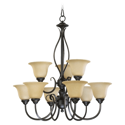 Quorum Lighting Quorum Lighting Spencer Old World Chandelier 6010-9-95