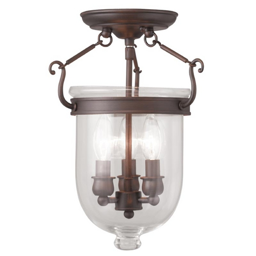 Livex Lighting Livex Lighting Jefferson Imperial Bronze Semi-Flushmount Light 5061-58