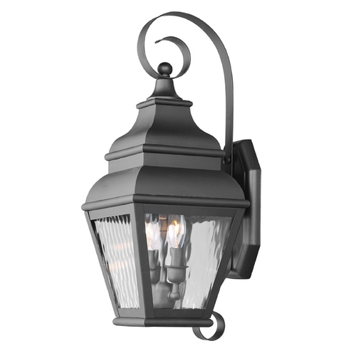 Livex Lighting Livex Lighting Exeter Black Outdoor Wall Light 2602-04