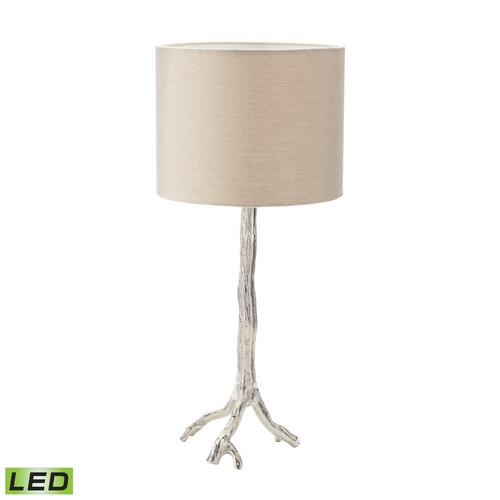 Dimond Lighting Dimond Lighting Nickel LED Table Lamp with Drum Shade 468-022-LED