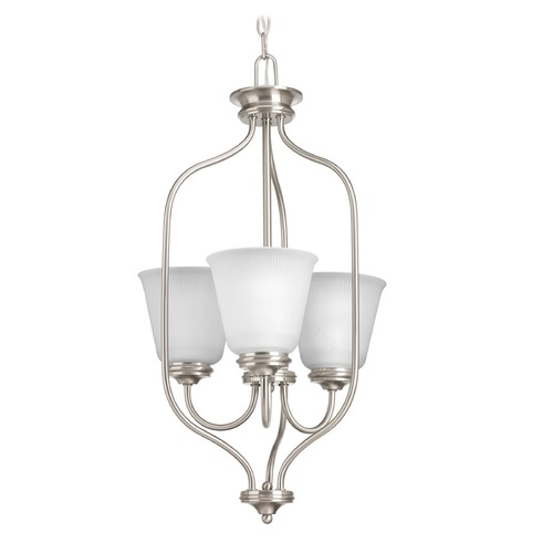 Progress Lighting Progress Lighting Keats Brushed Nickel Pendant Light with Bell Shade P3887-09