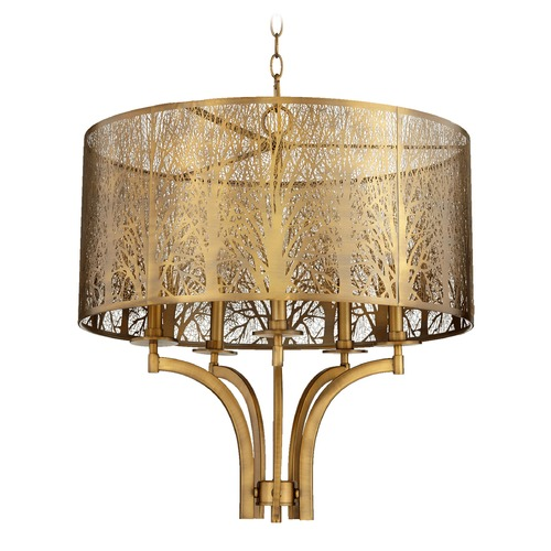 Quorum Lighting Quorum Lighting Aged Brass Pendant Light 8733-5-80