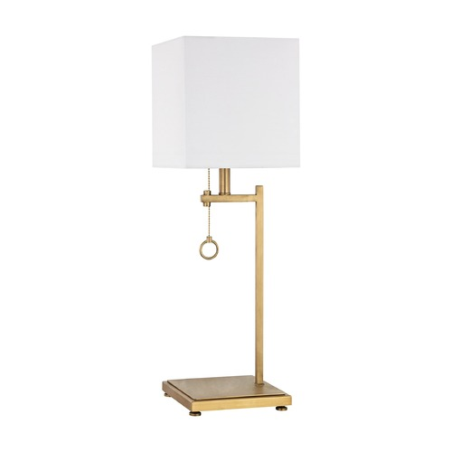 Dimond Lighting Dimond Gower Street Antique Brass Table Lamp with Square Shade D3128