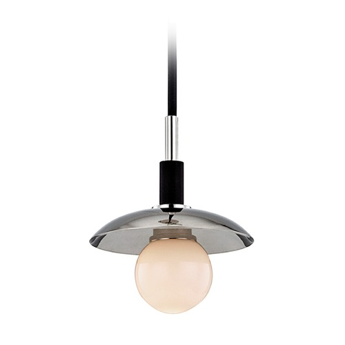 Hudson Valley Lighting Hudson Valley Lighting Julien Polished Nickel LED Mini-Pendant Light with Globe Shade 9821-PN