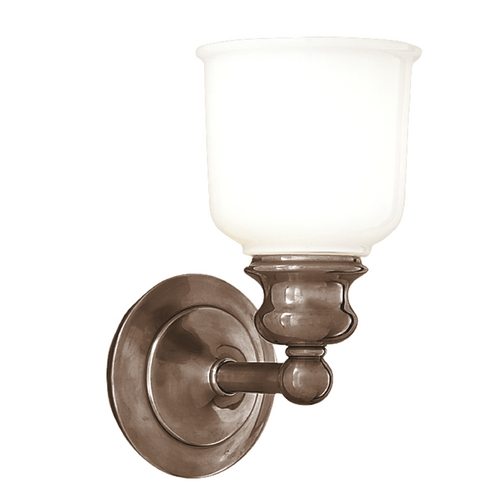 Hudson Valley Lighting Sconce with White Glass in Antique Nickel Finish 2301-AN