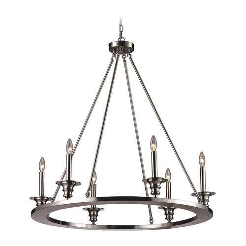 Elk Lighting Chandelier in Satin Nickel Finish 31225/6