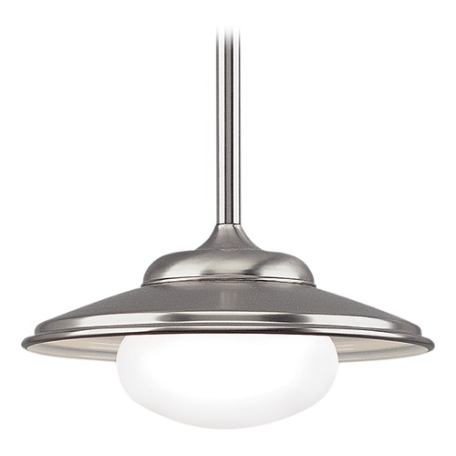 Hudson Valley Lighting Pendant Light with White Glass in Satin Nickel Finish 9116-SN