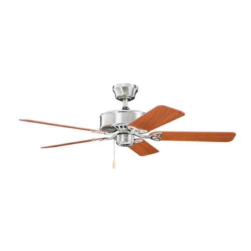 Kichler Lighting Kichler Lighting Renew Brushed Stainless Steel Ceiling Fan Without Light 330100BSS