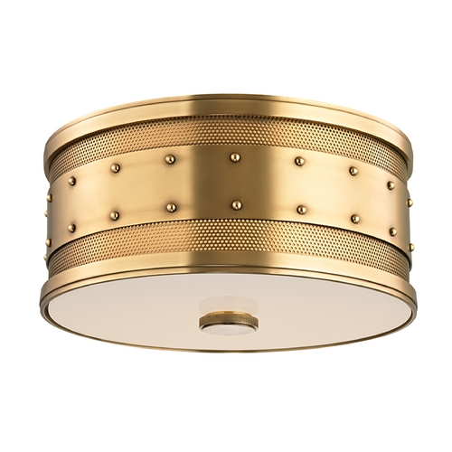 Hudson Valley Lighting Hudson Valley Lighting Gaines Aged Brass Flushmount Light 2202-AGB
