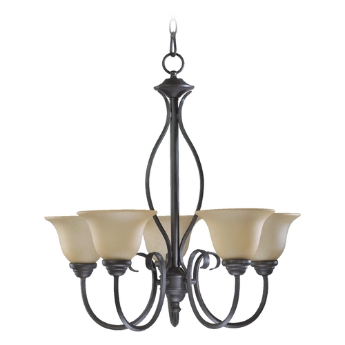Quorum Lighting Quorum Lighting Spencer Toasted Sienna Chandelier 6410-5-44