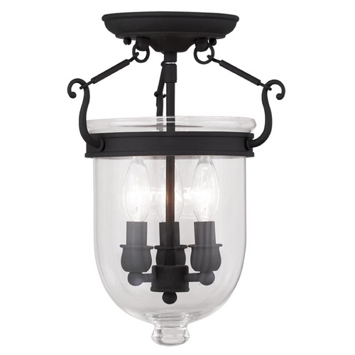 Livex Lighting Livex Lighting Jefferson Black Semi-Flushmount Light 5061-04