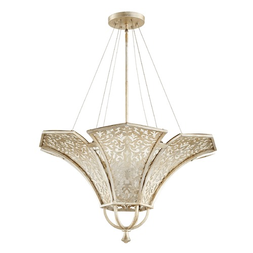 Quorum Lighting Quorum Lighting Bastille Aged Silver Leaf Pendant Light 875-4-60