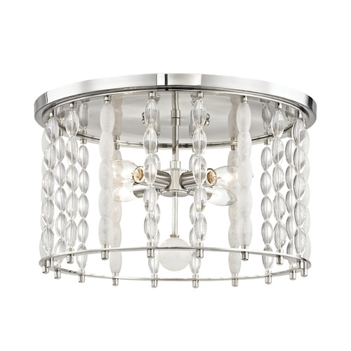 Hudson Valley Lighting Hudson Valley Lighting Whitestone Polished Nickel Flushmount Light 9304-PN