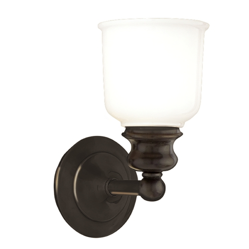 Hudson Valley Lighting Sconce with White Glass in Old Bronze Finish 2301-OB