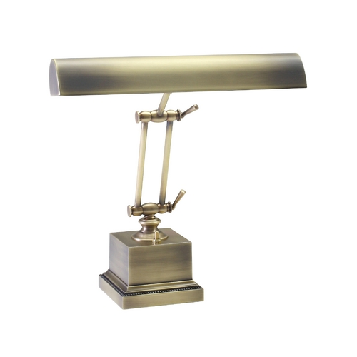 House of Troy Lighting Piano / Banker Lamp in Antique Brass Finish P14-202-AB